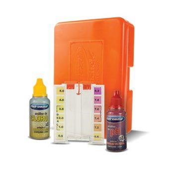 Estojo de Teste Cloro e pH Aquachek Hidroazul
